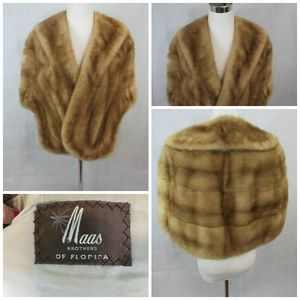 Vtg Maas Brothers Of Tampa Womens Mink Fur Stole